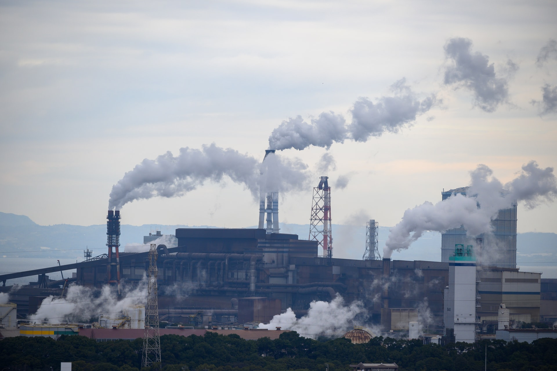 factory with pollution