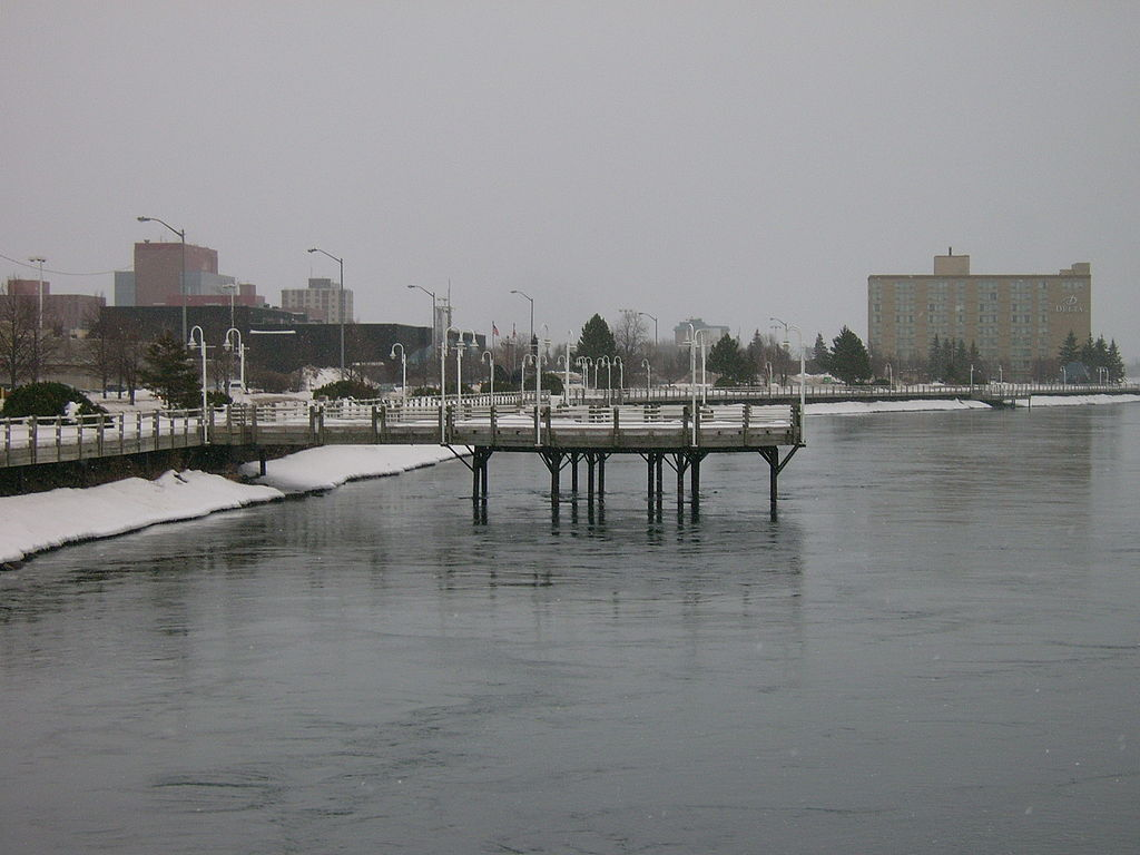 Sault Ste Marie in the snow